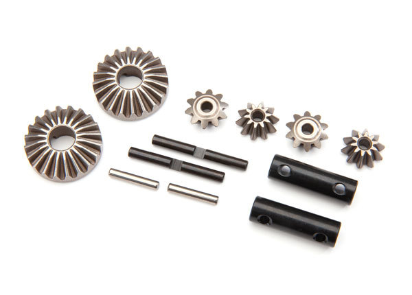 Комплект Gear set, differential (output gears (2)| spider gears (4)| spider gear shaft (2)| output shaft (2)| 2.5X13.8 pin (2)) - TRA8982